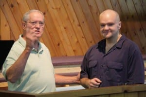 BAPTISM   August 31st   Pastor Mike Marcum and Grant V.
