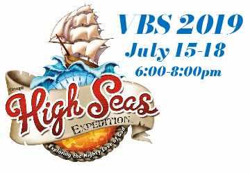 V.B.S |  July 15-18, 2019